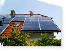 mit Limdor Spezialreiniger behandelte Solaranlage