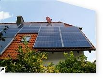 verschmutzte Solaranlage
